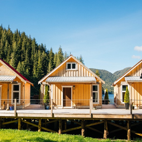 Nimmo Bay Lodge Cabins