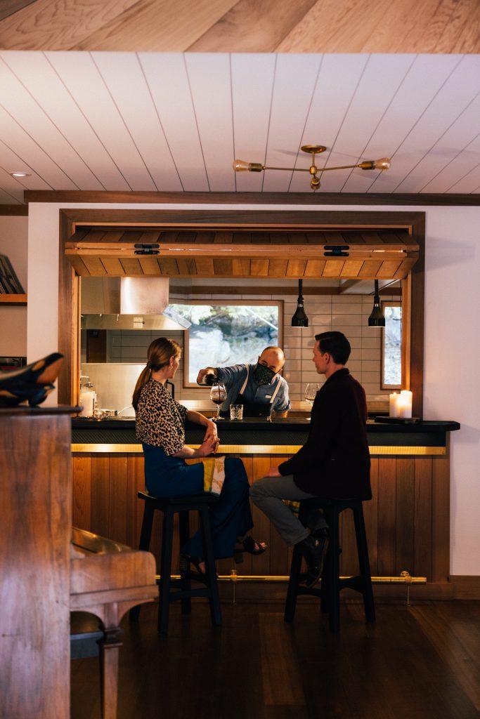 couple at Nimmo Bay Bar