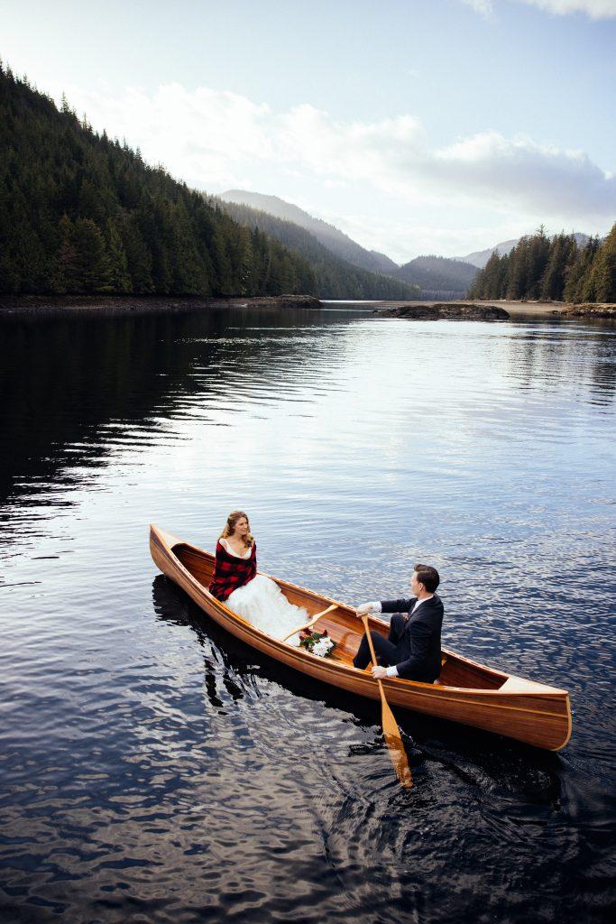 Wedding on the Water - Canoe