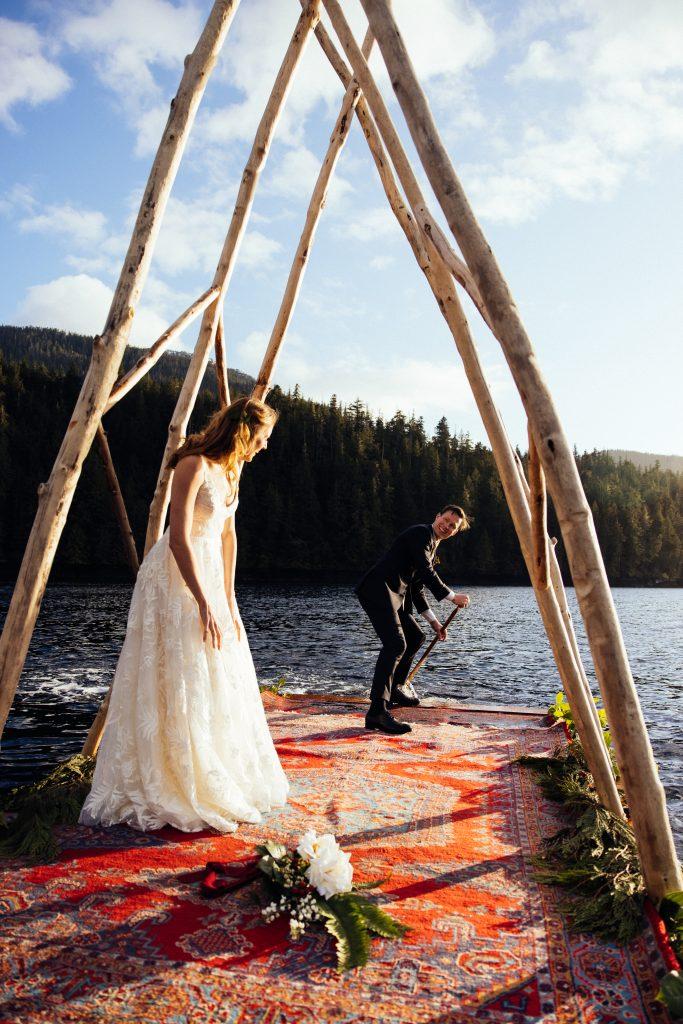 Newly Wed at Nimmo Bay
