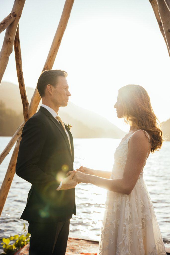 Wedding on the Water at Nimmo Bay Luxury Resort